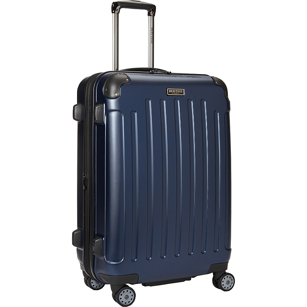 Heritage Logan Square Collection 25 Expandable 8 Wheel Luggage Navy Heritage Hardside Checked