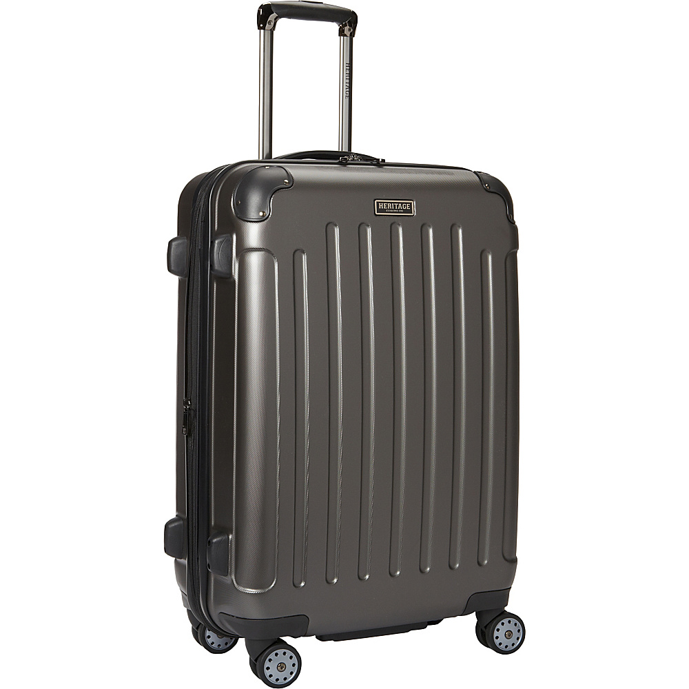Heritage Logan Square Collection 25 Expandable 8 Wheel Luggage Charcoal Heritage Hardside Checked