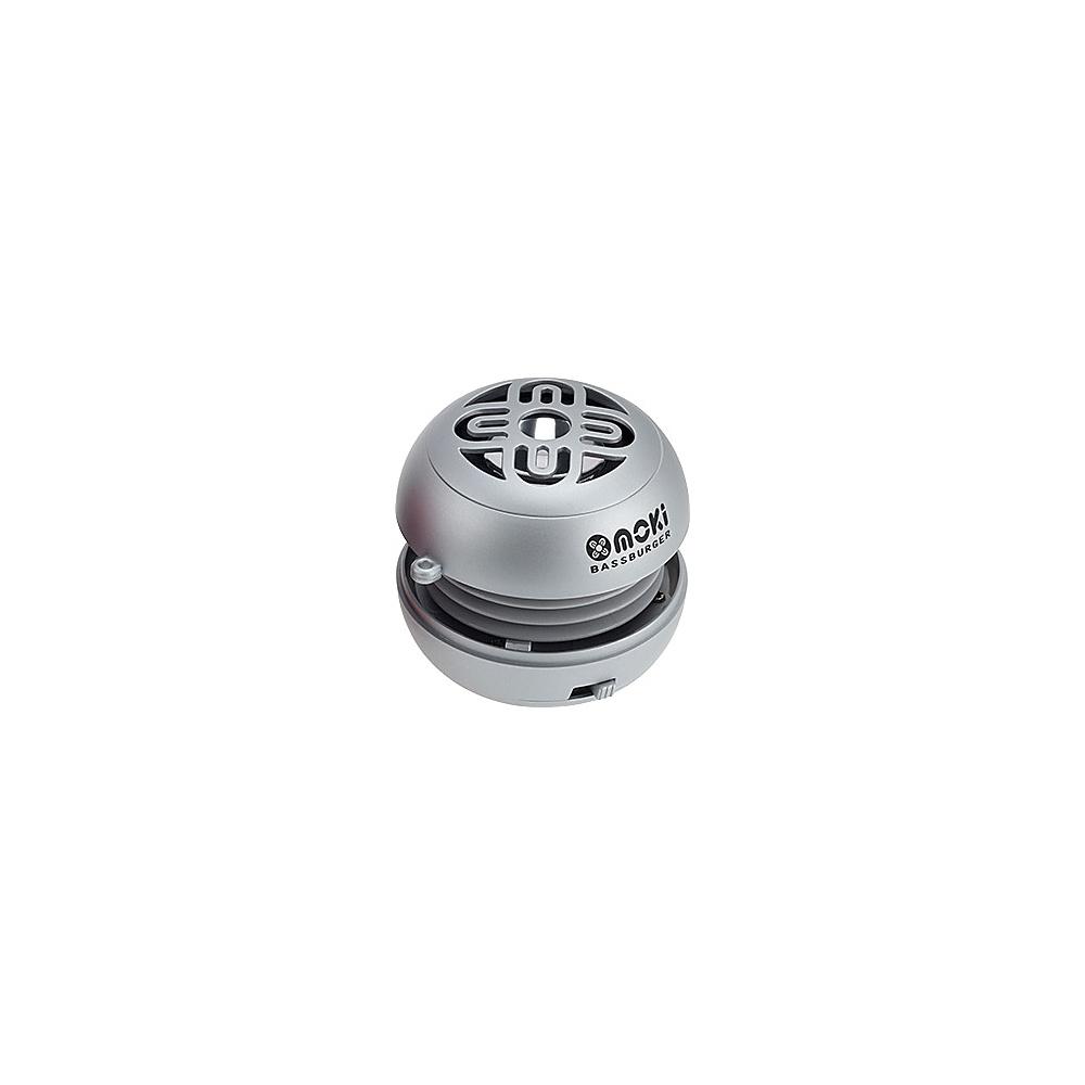 Moki Bass Burger Speaker Silver Moki Headphones Speakers