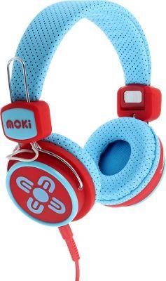Moki Kids Safe Headphones Blue/Red - Moki Headphones & Speakers