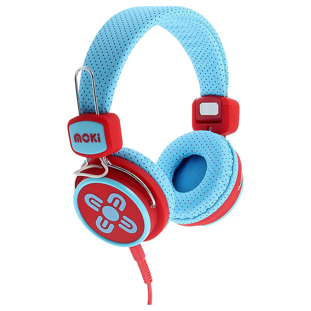 Moki Kids Safe Blue Red Moki Headphones Speakers