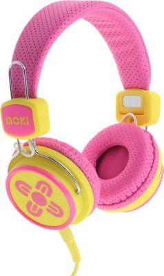 Moki Kids Safe Headphones Pink/Yellow - Moki Headphones & Speakers