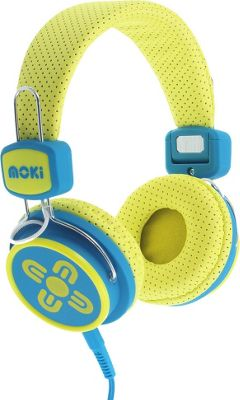 Moki Kids Safe Headphones Yellow/Blue - Moki Headphones & Speakers
