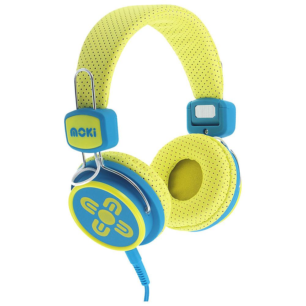 Moki Kids Safe Yellow Blue Moki Headphones Speakers