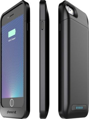 PhoneSuit Elite 6 Pro Battery Case for iPhone 6 Metallic Black - PhoneSuit Electronic Cases