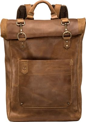 Timberland Wallets Walnut Hill Leather Roll Top Backpack Dark Brown - Timberland Wallets Business & Laptop Backpacks
