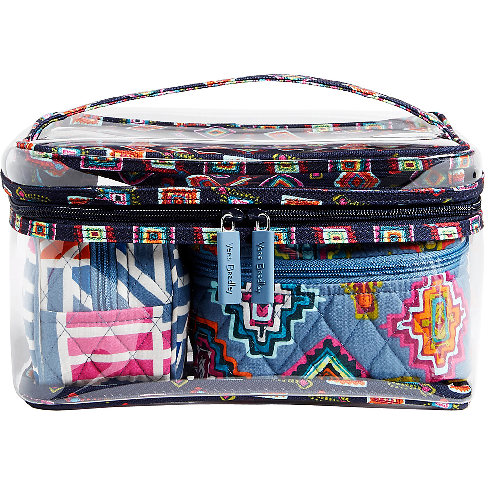 Vera Bradley Travel Cosmetic Set Painted Medallions - Vera Bradley Travel Health & Beauty - Travel Accessories, Travel Health & Beauty