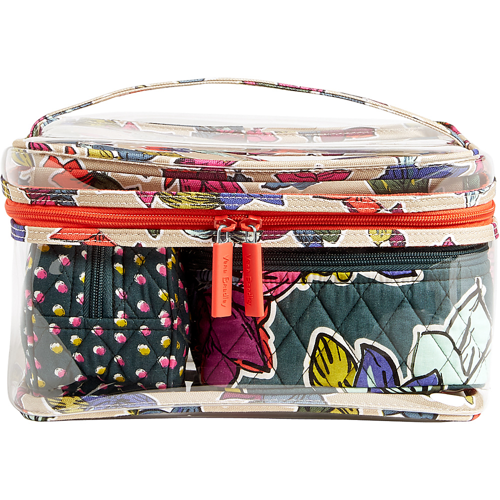 Vera Bradley Travel Cosmetic Set Falling Flowers - Vera Bradley Travel Health & Beauty - Travel Accessories, Travel Health & Beauty