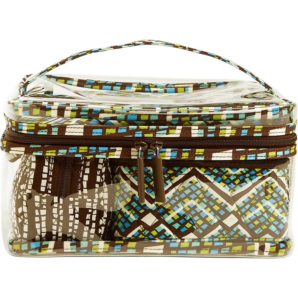 Vera Bradley Travel Cosmetic Set Rain Forest - Vera Bradley Womens SLG Other - Women's SLG, Women's SLG Other