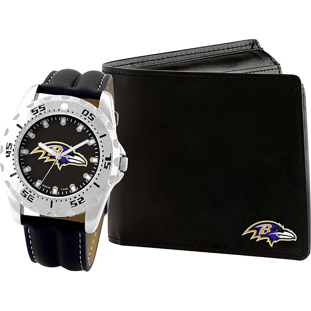 Game Time Watch and Wallet Gift Set - NFL Baltimore Ravens - Game Time Watches - Fashion Accessories, Watches