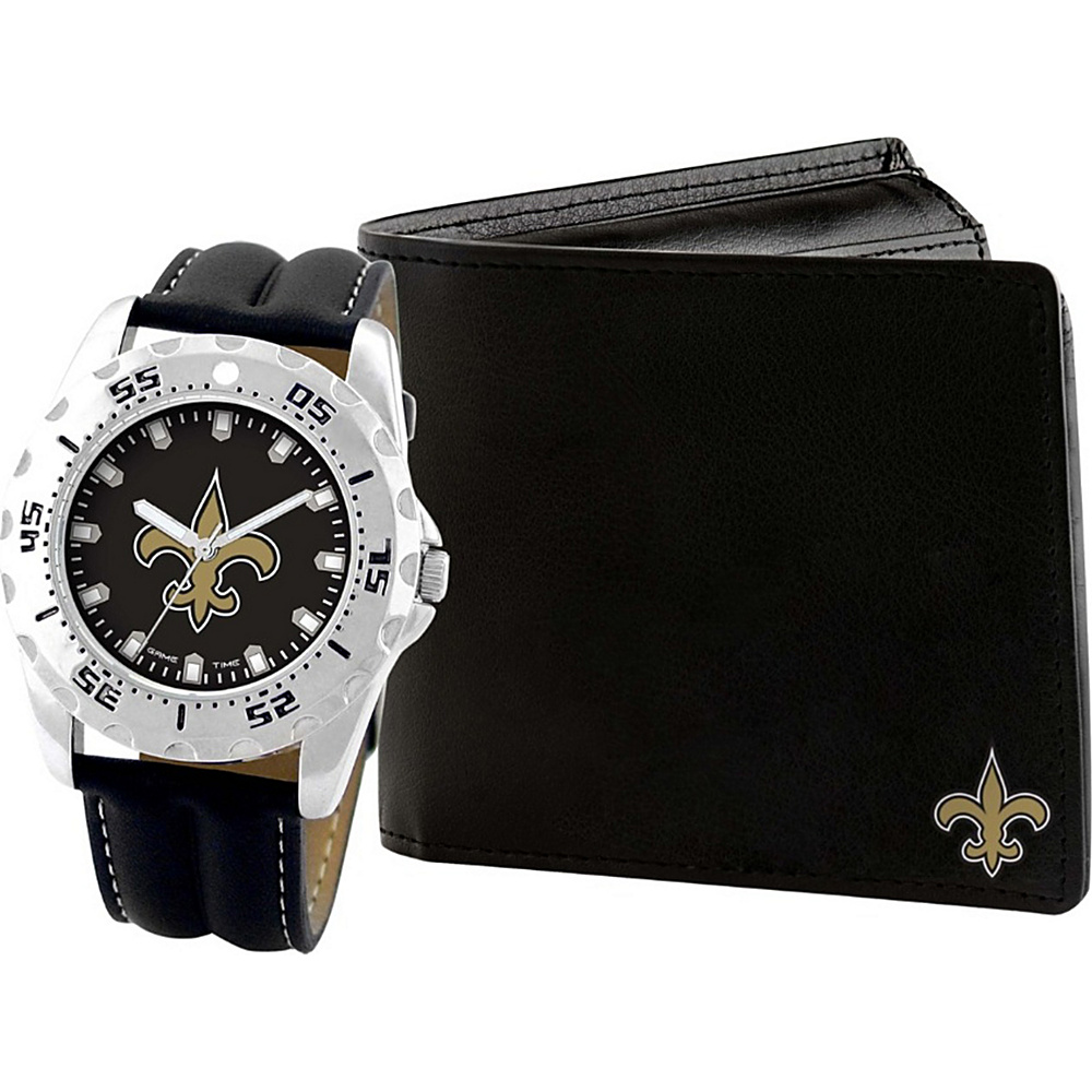 Game Time Watch and Wallet Gift Set - NFL New Orleans Saints - Game Time Watches - Fashion Accessories, Watches