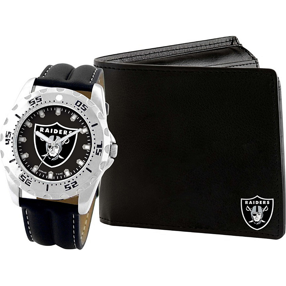 Game Time Watch and Wallet Gift Set - NFL Oakland Raiders - Game Time Watches - Fashion Accessories, Watches