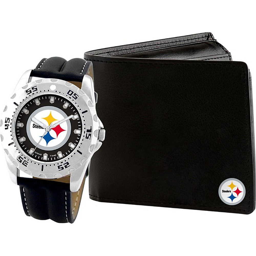 Game Time Watch and Wallet Gift Set - NFL Pittsburgh Steelers - Game Time Watches - Fashion Accessories, Watches