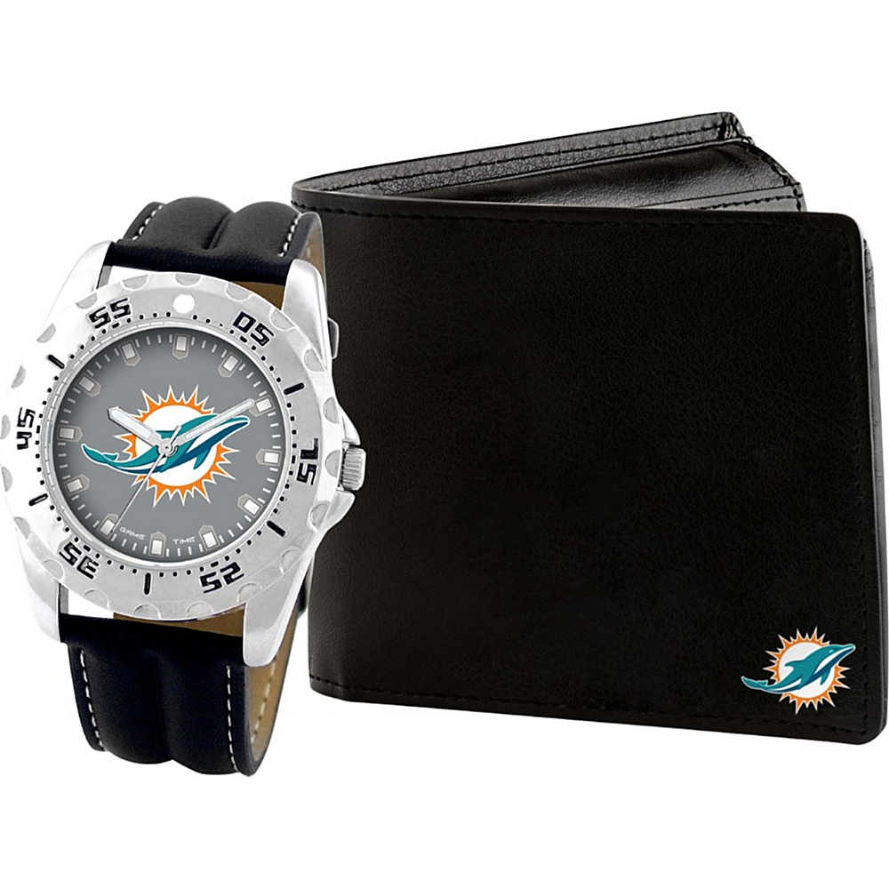 Game Time Watch and Wallet Gift Set - NFL Miami Dolphins - Game Time Watches - Fashion Accessories, Watches