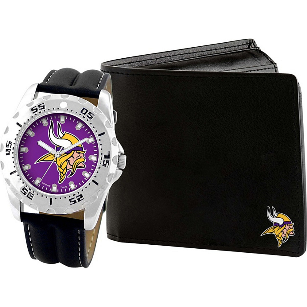 Game Time Watch and Wallet Gift Set - NFL Minnesota Vikings - Game Time Watches - Fashion Accessories, Watches