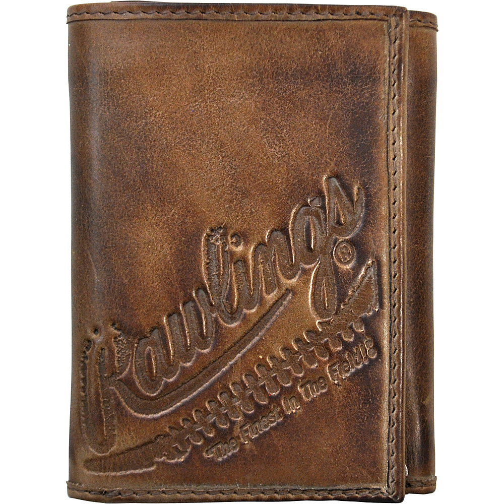 Rawlings Fielder s Choice Trifold Wallet Glove Brown Rawlings Men s Wallets