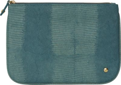 Stephanie Johnson Galapagos Large Flat Cosmetic Pouch Teal - Stephanie Johnson Women's SLG Other