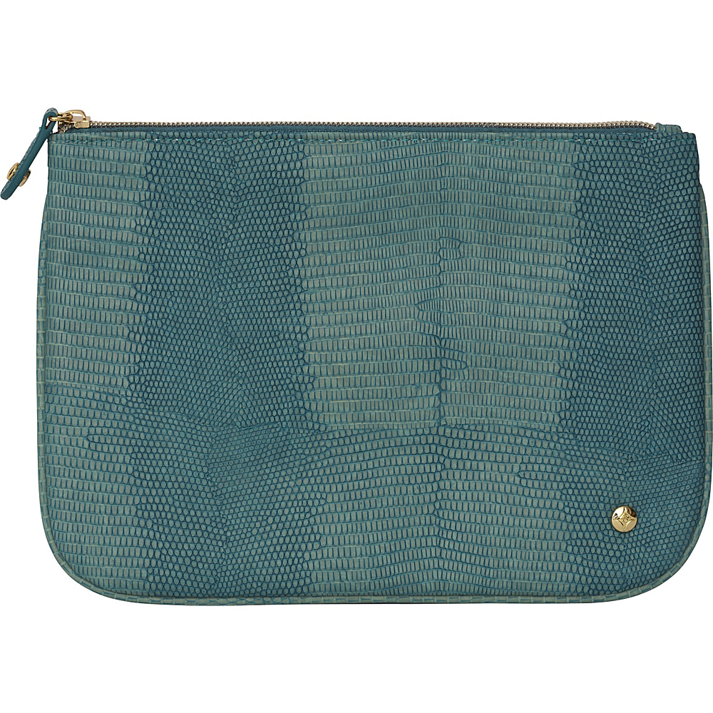 Stephanie Johnson Galapagos Large Flat Cosmetic Pouch Teal Stephanie Johnson Women s SLG Other