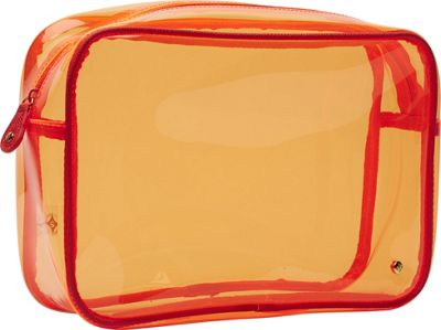 Stephanie Johnson Stephanie Johnson Miami Jumbo Zip Cosmetic Case Orange - Stephanie Johnson Toiletry Kits