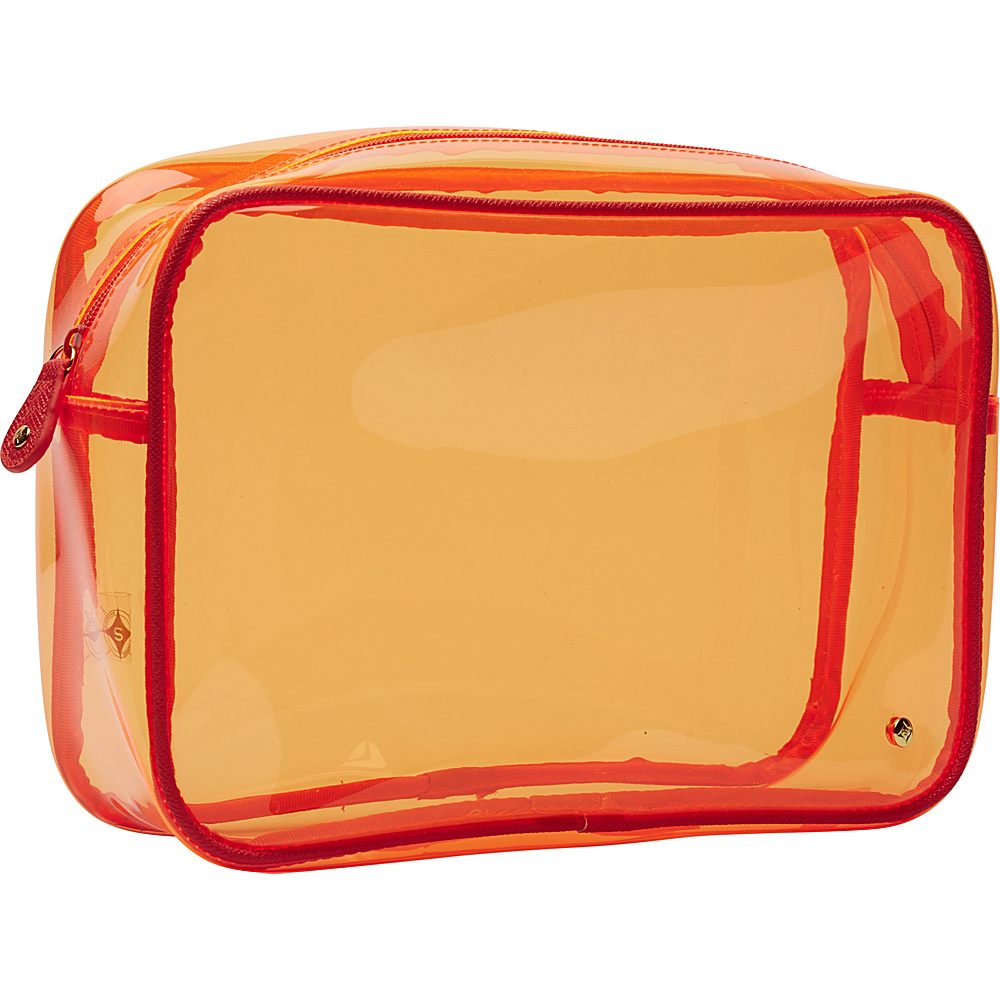 Stephanie Johnson Miami Jumbo Zip Cosmetic Case Orange Stephanie Johnson Toiletry Kits