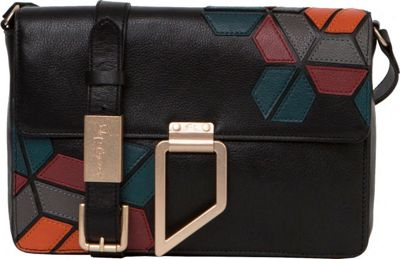 Foley + Corinna Valerie Geo Patch Shoulder Bag Black Multi - Foley + Corinna Designer Handbags
