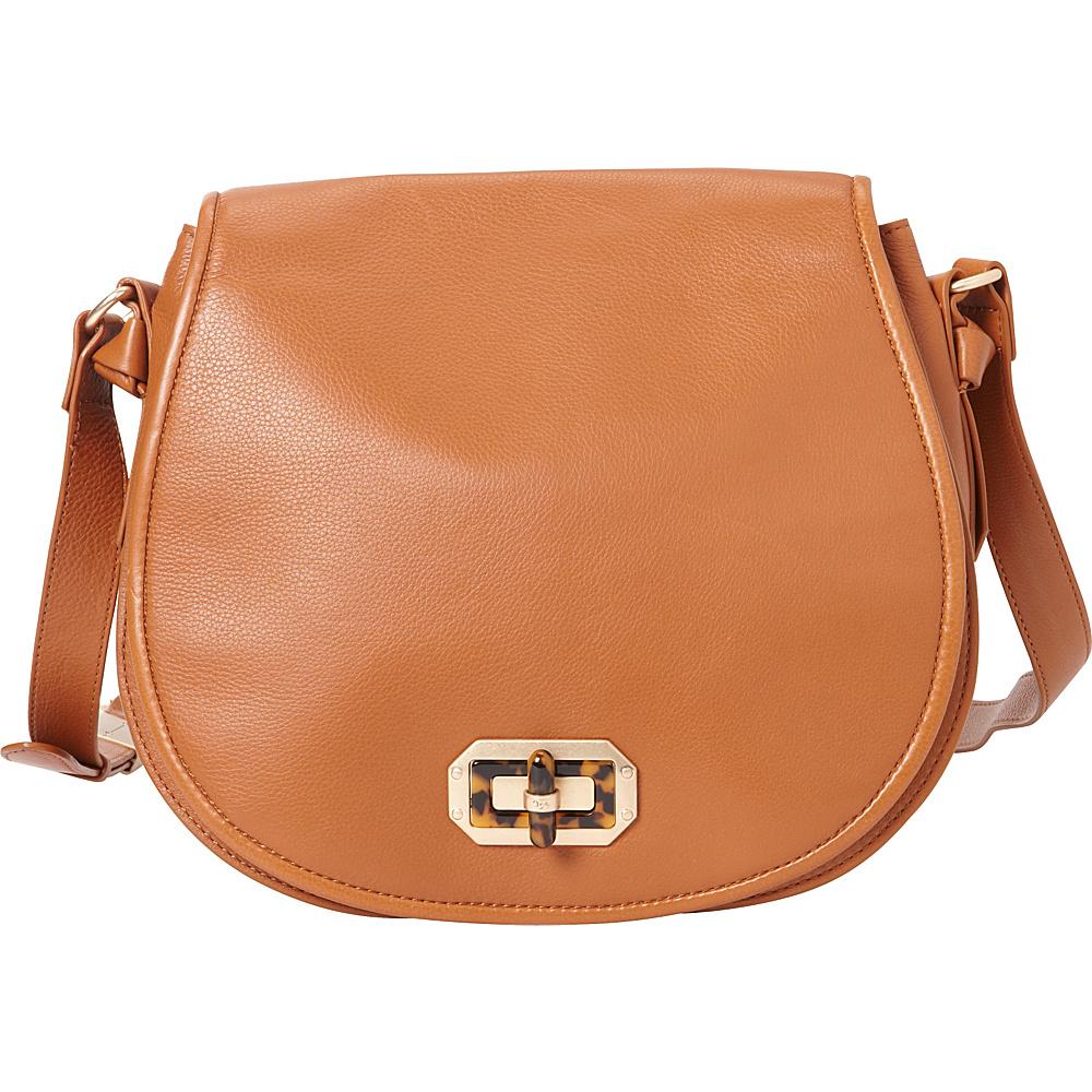 Foley Corinna Whitney Saddle Bag Honey Brown Foley Corinna Designer Handbags