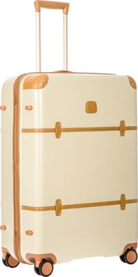 BRIC'S Bellagio 2.0 30 inch Spinner Trunk Cream - BRIC'S Hardside Checked