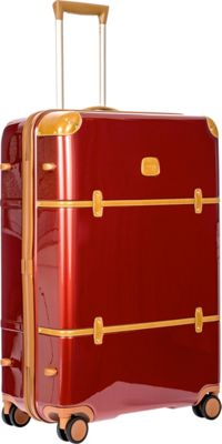 BRIC'S Bellagio 2.0 30 inch Spinner Trunk Shiny Red - BRIC'S Hardside Checked