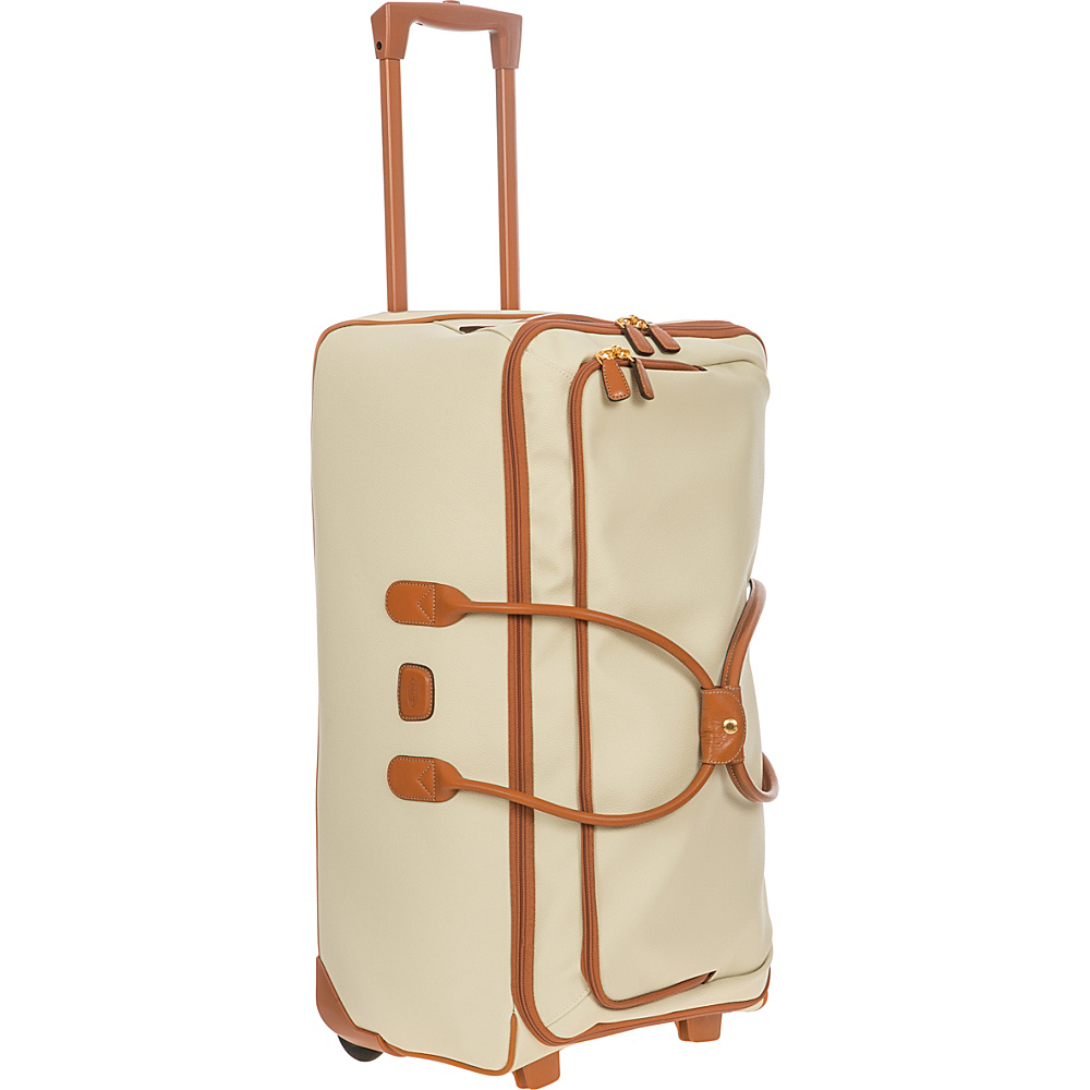 BRIC S Firenze 28 Rolling Duffle Cream BRIC S Softside Checked