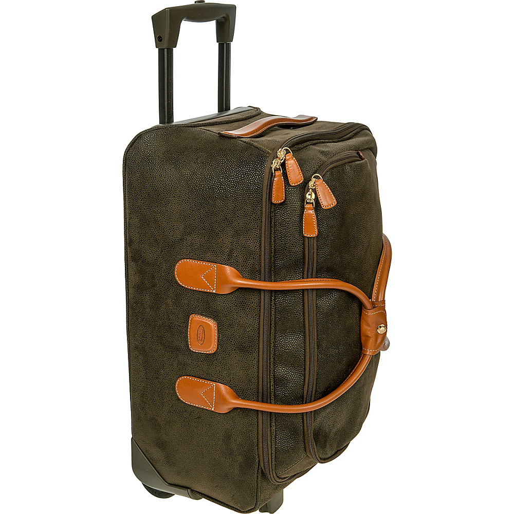 BRIC S Life 21 Carry On Rolling Duffle Olive BRIC S Rolling Duffels