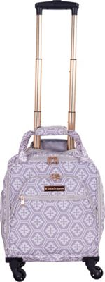 Jenni Chan Aria Snow Flake 15 inch Spinner Underseat Tote - eBags EXCLUSIVE Grey - Jenni Chan Softside Carry-On
