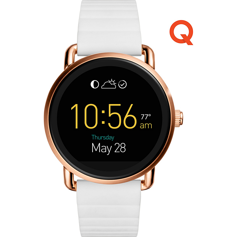 Fossil Q Wander Touchscreen Silicone Smartwatch White - Fossil Wearable Technology - Technology, Wearable Technology