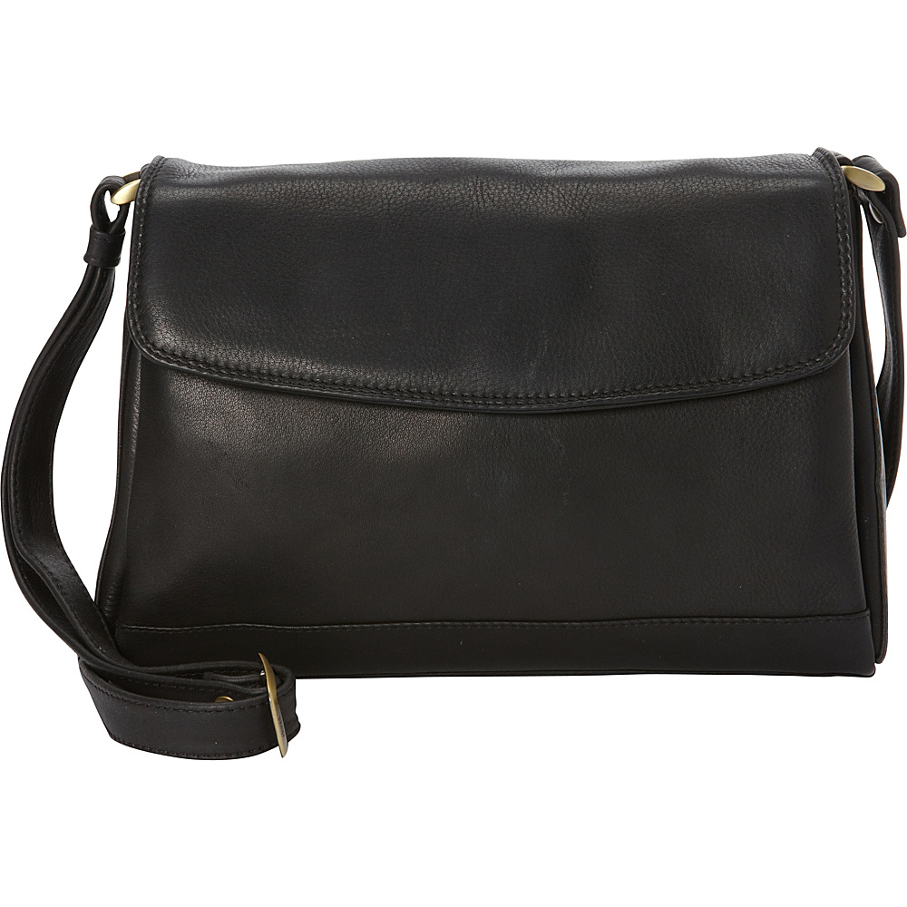Derek Alexander EW Quarter Flap Convertible Crossbody Black - Derek Alexander Leather Handbags - Handbags, Leather Handbags