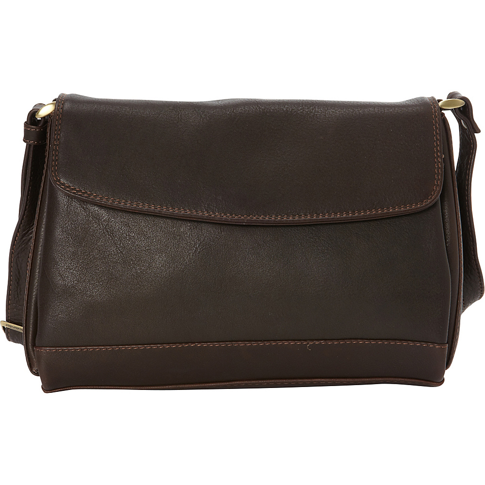 Derek Alexander EW Quarter Flap Convertible Crossbody Brown - Derek Alexander Leather Handbags - Handbags, Leather Handbags