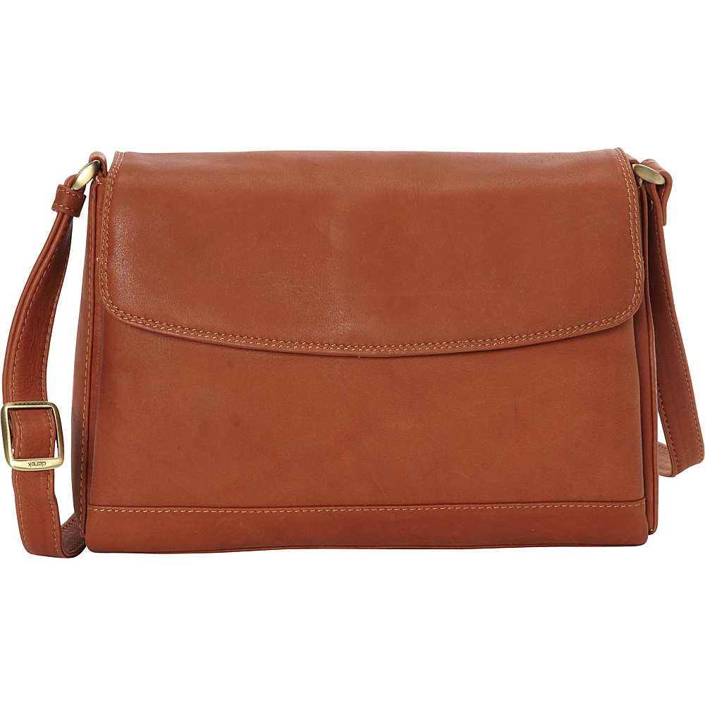 Derek Alexander EW Quarter Flap Convertible Crossbody Tan - Derek Alexander Leather Handbags - Handbags, Leather Handbags