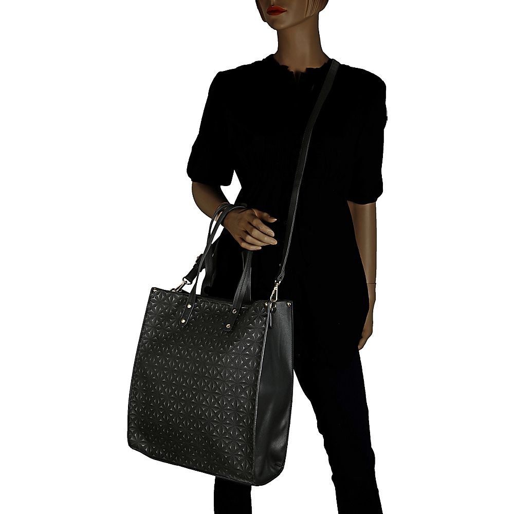 MKF Collection Prinia 3-in-1 Shopper's Tote - Cosmetic Pouch and Wristlet Dark Blue - MKF Collection Manmade Handbags