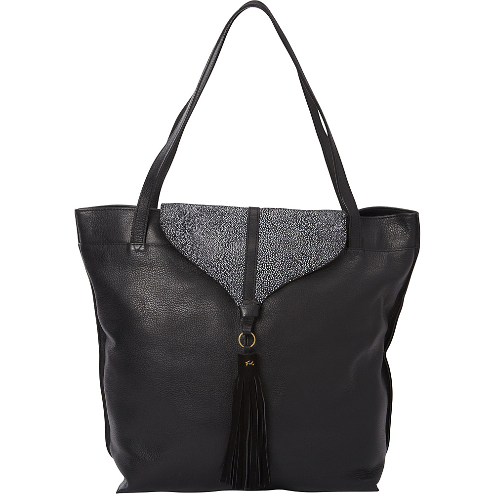 Foley Corinna Arrow Tote Black Leather Stingray Combo Foley Corinna Designer Handbags