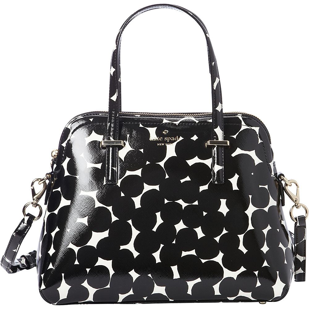 kate spade new york Cedar Street Blot Dot Maise Bag Black Cream kate spade new york Designer Handbags