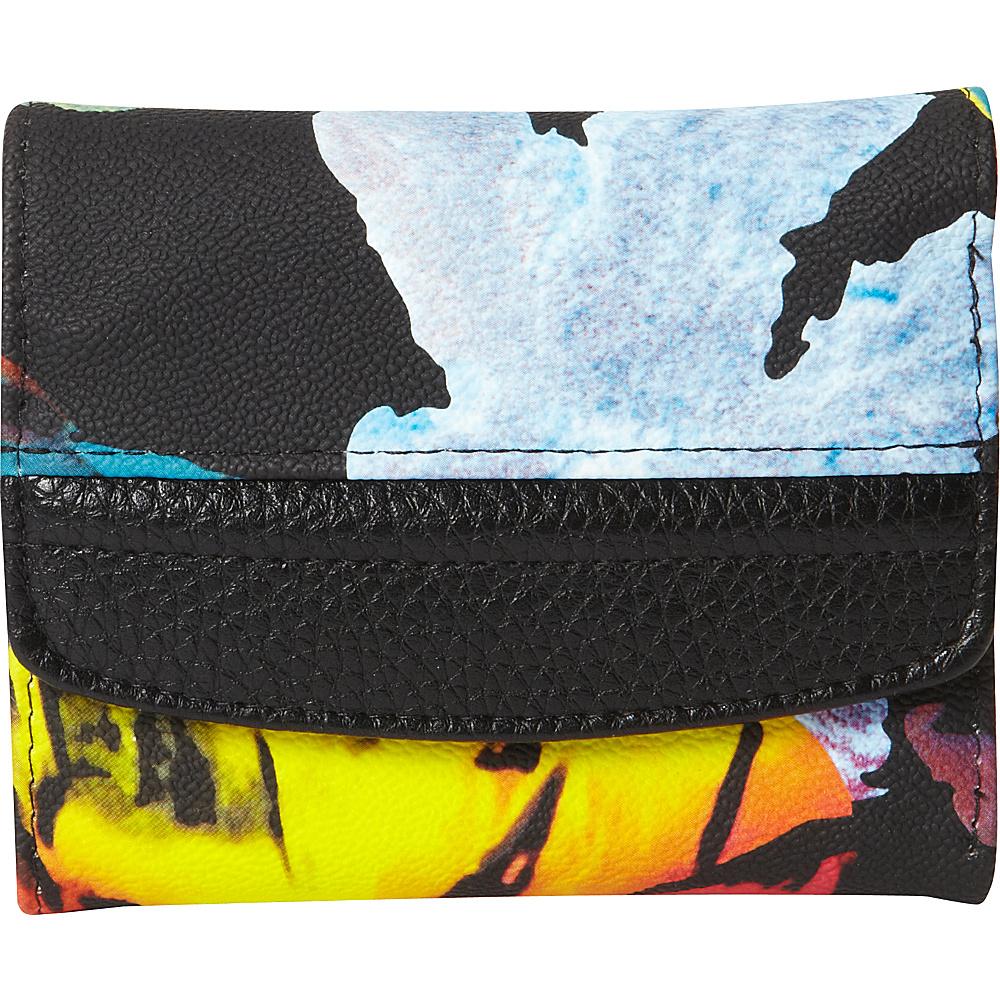Buxton Abstract Floral Pik-Me-Up Mini-Trifold Black - Buxton Womens Wallets - Women's SLG, Women's Wallets