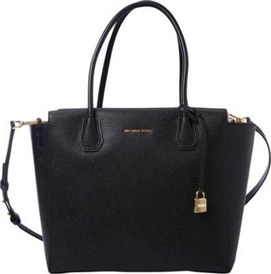 MICHAEL Michael Kors Mercer Large Satchel Black - MICHAEL Michael Kors Designer Handbags