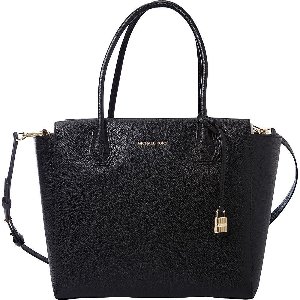 MICHAEL Michael Kors Mercer Large Satchel Black MICHAEL Michael Kors Designer Handbags