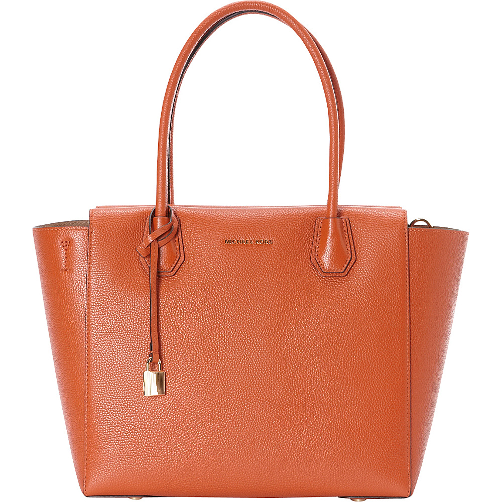 MICHAEL Michael Kors Mercer Large Satchel Orange MICHAEL Michael Kors Designer Handbags