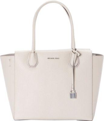 MICHAEL Michael Kors Mercer Large Satchel Cement - MICHAEL Michael Kors Designer Handbags