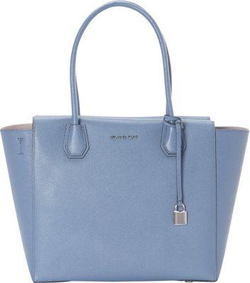MICHAEL Michael Kors Mercer Large Satchel Denim - MICHAEL Michael Kors Designer Handbags