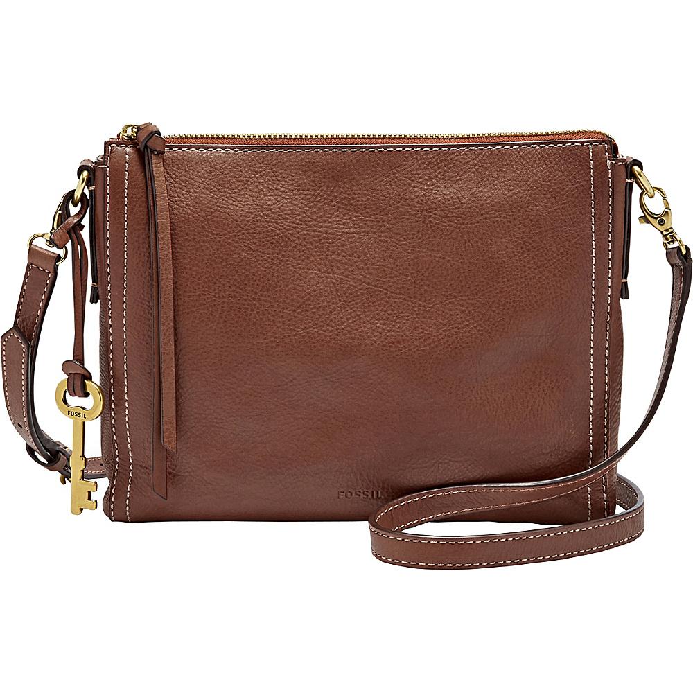 Fossil Emma EW Crossbody Brown - Fossil Leather Handbags - Handbags, Leather Handbags