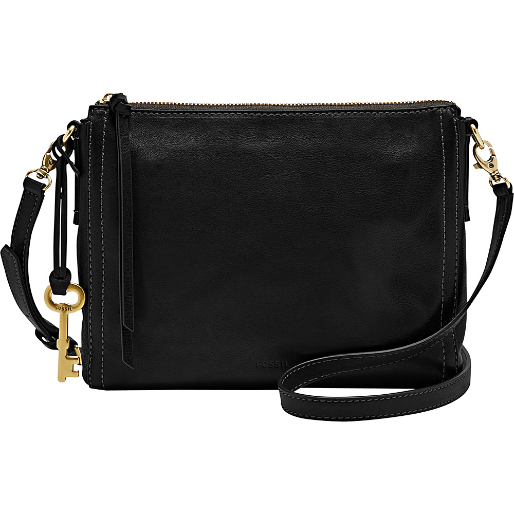 Fossil Emma EW Crossbody Black - Fossil Leather Handbags - Handbags, Leather Handbags