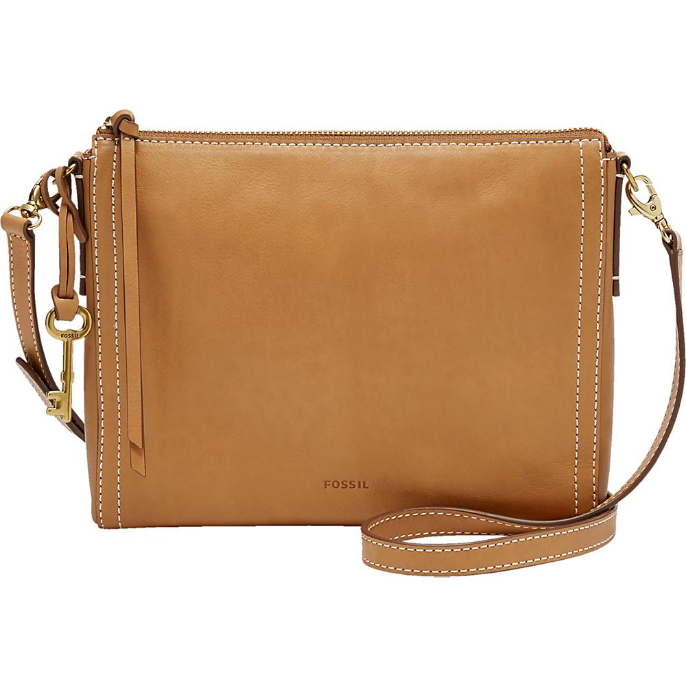Fossil Emma EW Crossbody Tan - Fossil Leather Handbags - Handbags, Leather Handbags