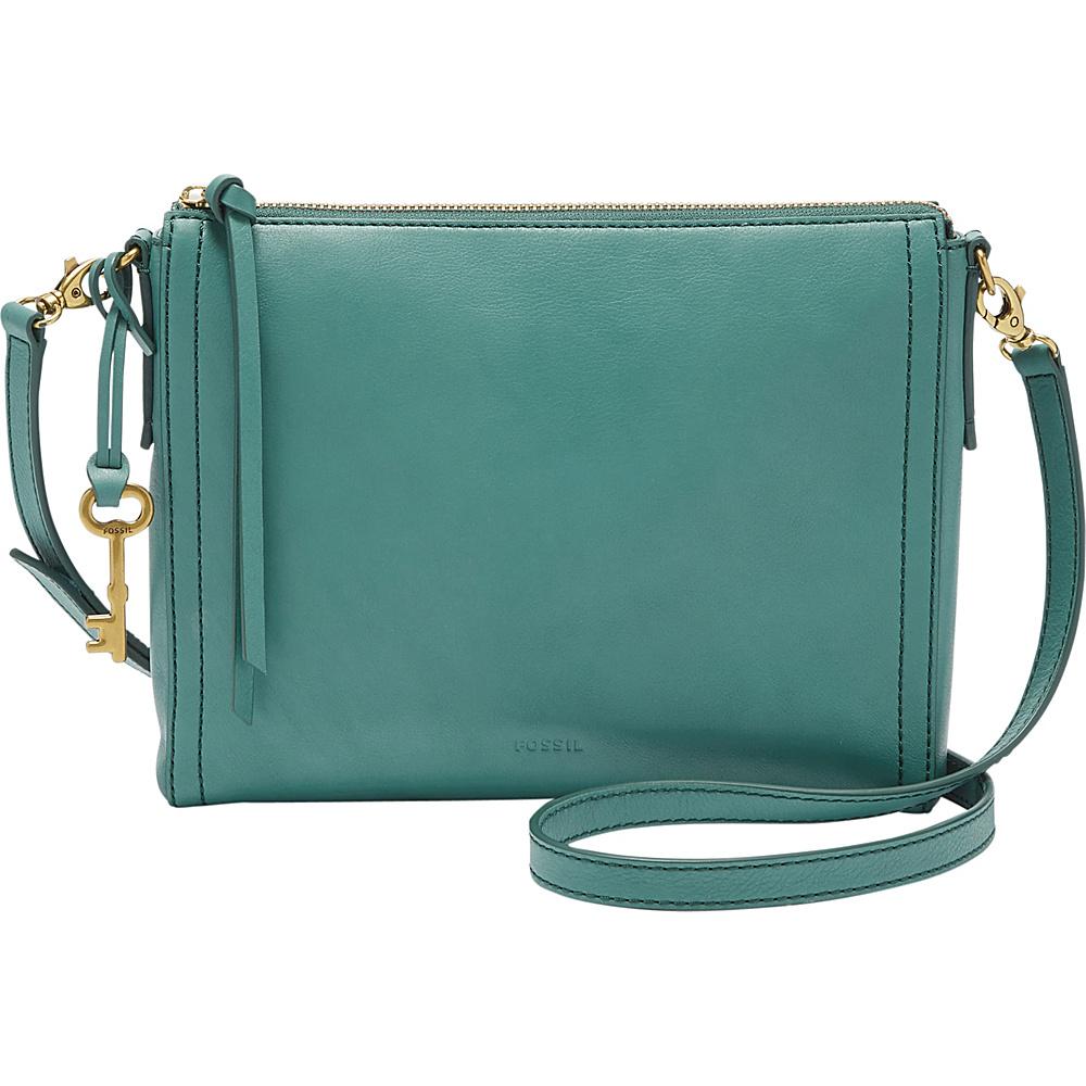 Fossil Emma EW Crossbody Teal Green - Fossil Leather Handbags - Handbags, Leather Handbags
