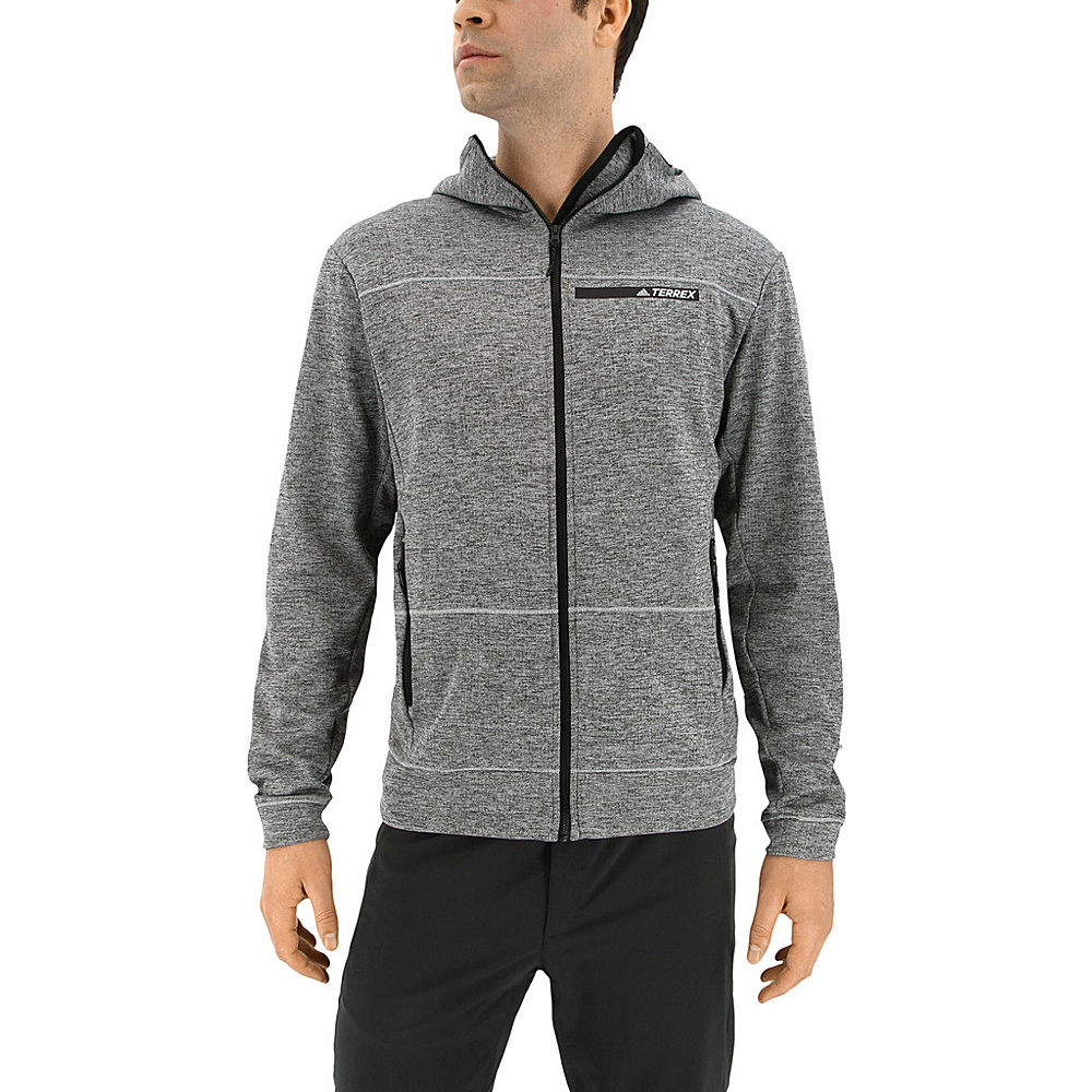 adidas outdoor Mens Climb The City Hoodie M - Grey Five - adidas outdoor Mens Apparel - Apparel & Footwear, Men's Apparel