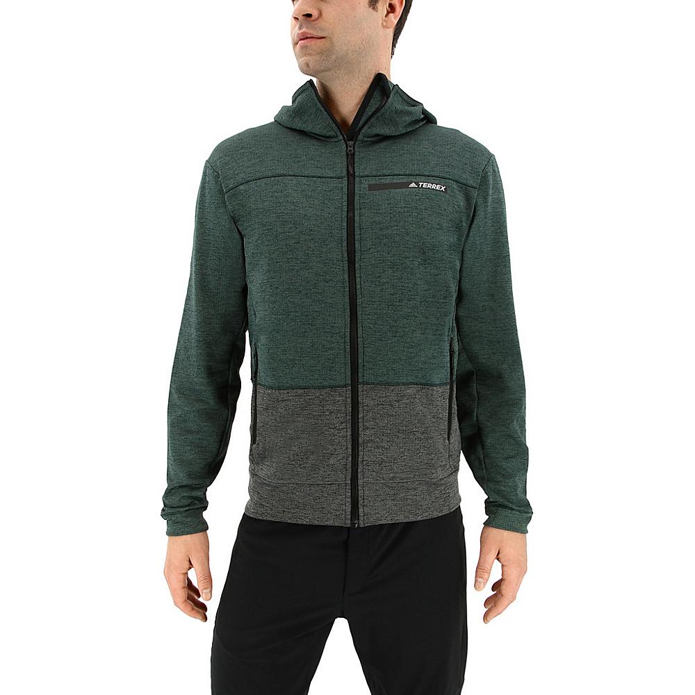 adidas outdoor Mens Climb The City Hoodie S - Green Night - adidas outdoor Mens Apparel - Apparel & Footwear, Men's Apparel